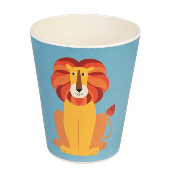 trinkbecher aus bambus charlie the lion