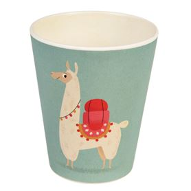 trinkbecher aus bambus dolly the llama