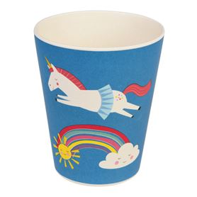 magical unicorn vaso de bambú