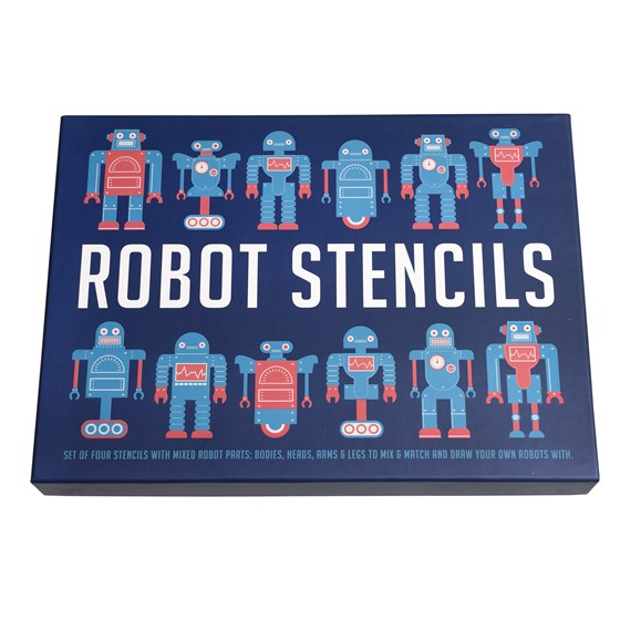robot stencils (set of four)