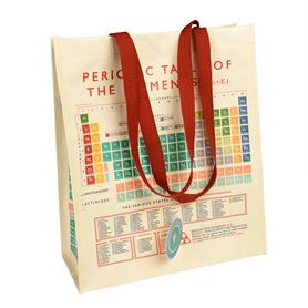 periodic table recycled shopping bag