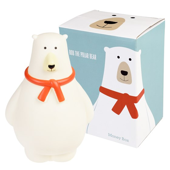 BOB THE POLAR BEAR MONEY BOX