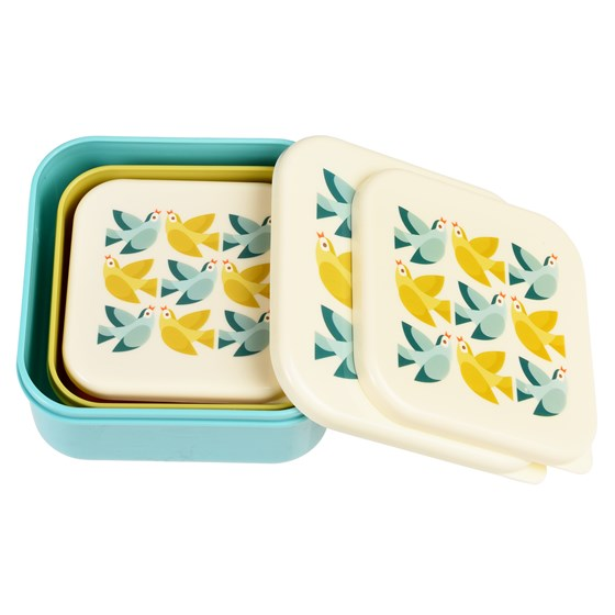 love birds snack boxes (set of 3)