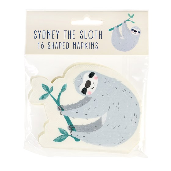 SYDNEY THE SLOTH NAPKINS (PACK OF 16)