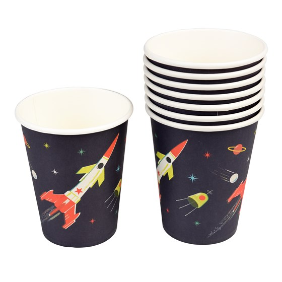 SPACE AGE PAPER CUPS (SET OF 8)