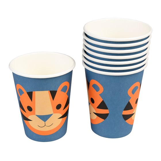 ZIGGY THE TIGER CUPS (SET OF 8)