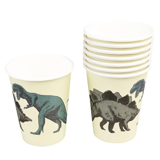 PREHISTORIC LAND PAPER CUPS (SET OF 8)