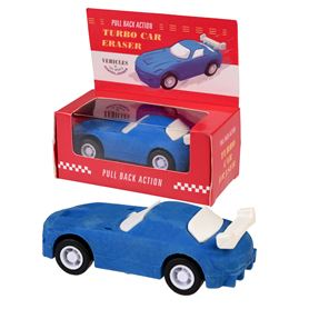 blue pull back super car eraser