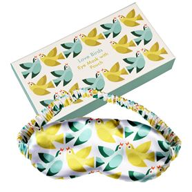 love birds eye mask and pouch