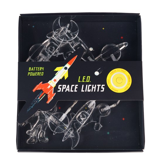 STRING OF LED SPACE ROCKET LIGHTS