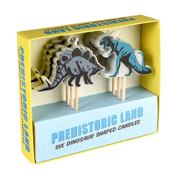 party-kerzen prehistoric land