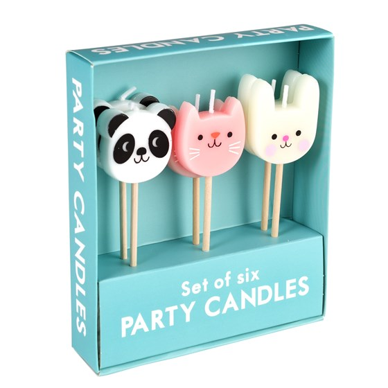 MIKO AND FRIENDS PARTY CANDLES (SET OF 6)