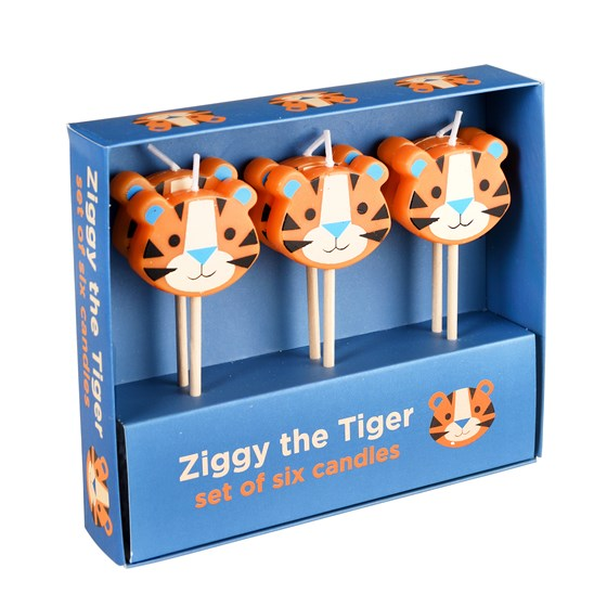 ZIGGY THE TIGER PARTY CANDLES (SET OF 6 )