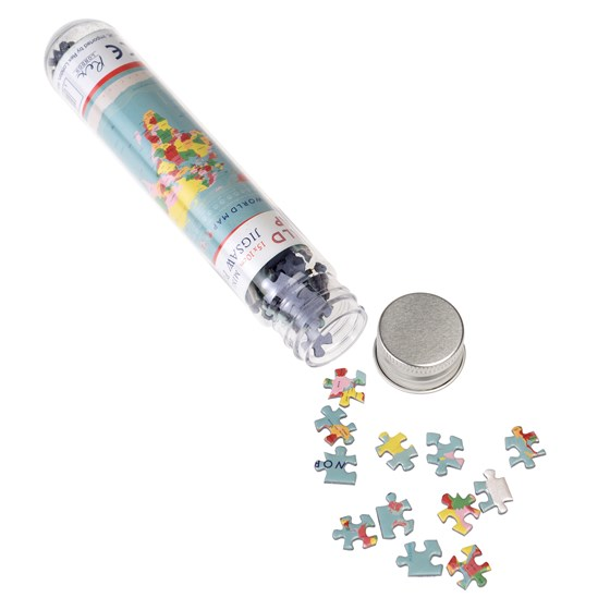 WORLD MAP 150 PIECE MINI PUZZLE IN A TUBE