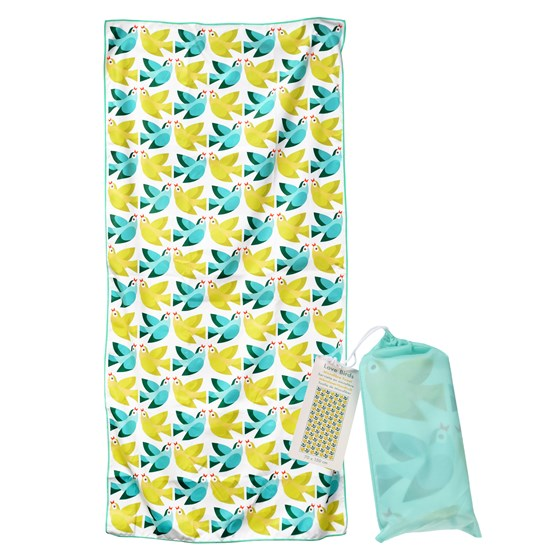 LOVE BIRDS MICROFIBRE TOWEL
