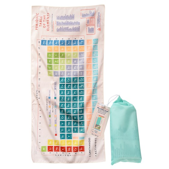 PERIODIC TABLE MICROFIBRE TOWEL