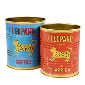 leopard storage tins (set of 2)
