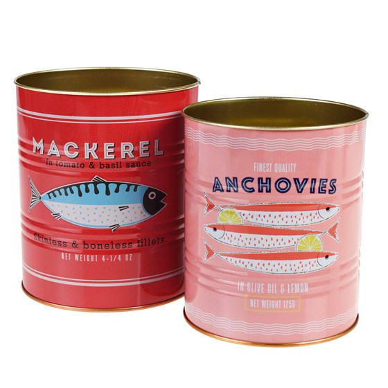 FISH STORAGE TINS (SET OF 2)