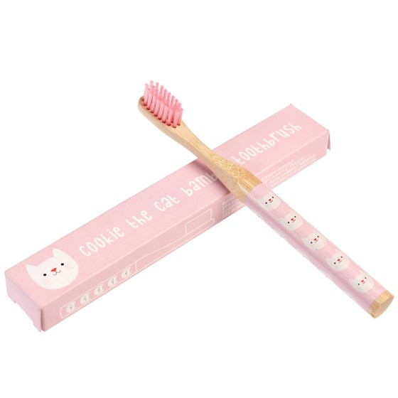 COOKIE THE CAT BAMBOO TOOTHBRUSH