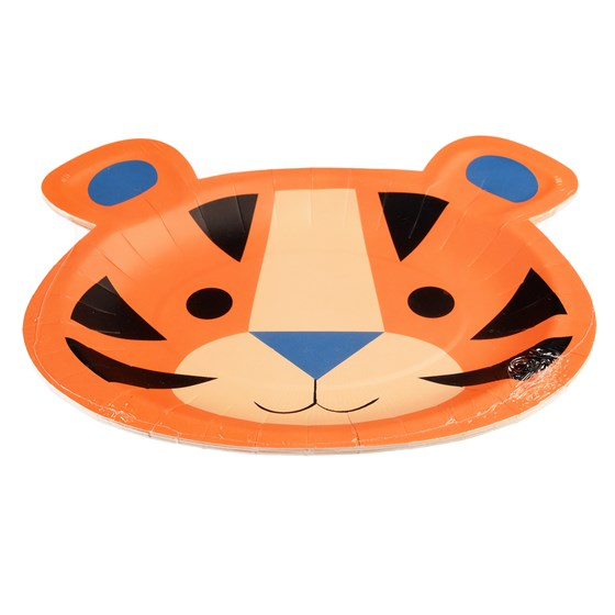 ZIGGY THE TIGER PAPER PLATES (SET OF 8)