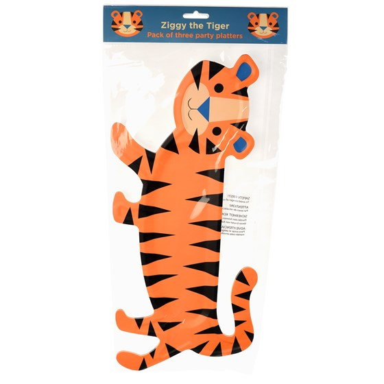 ZIGGY THE TIGER PLATTERS (SET OF 3)