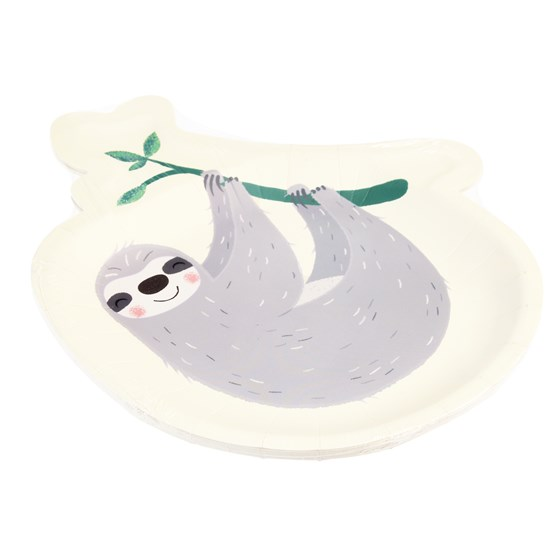 SYDNEY THE SLOTH PAPER PLATES (SET OF 8)