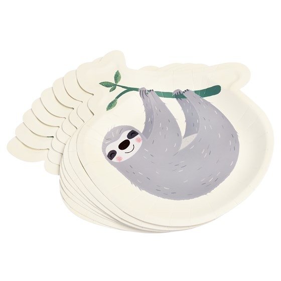 assiettes en carton sydney the sloth (ensemble de 8)