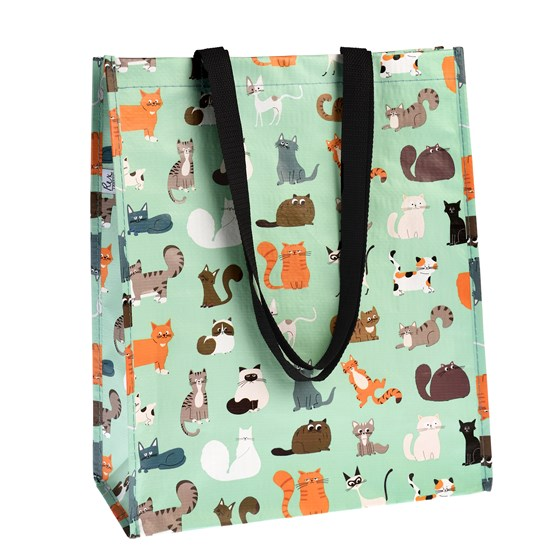 NINE LIVES RECYCLED SHOPPING BAG
