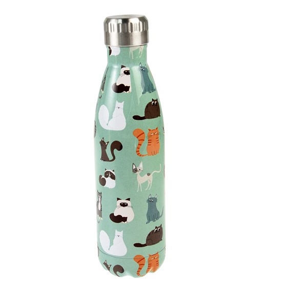 nine lives stainless steel bottle