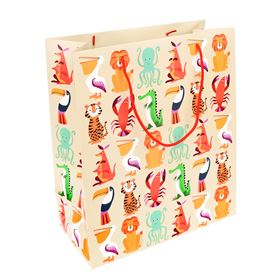 large colourful creatures gift bag