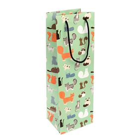 nine lives bottle gift bag
