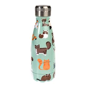 nine lives 260ml stainless steel bottle