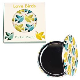 miroir de poche love birds