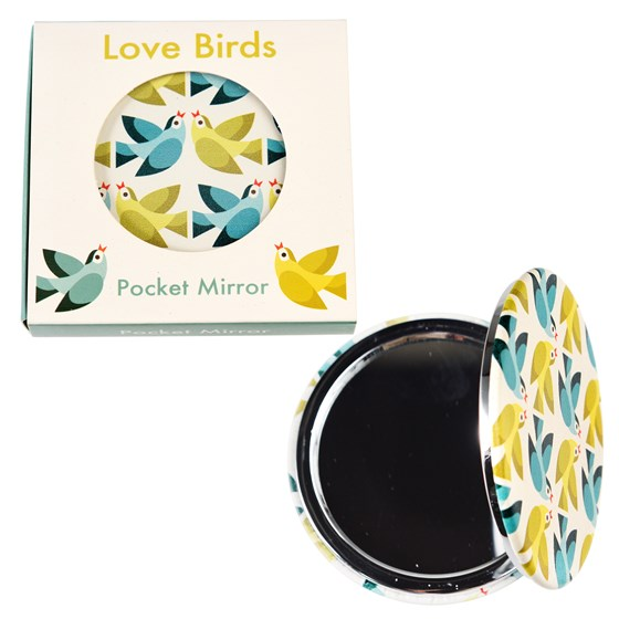 LOVE BIRDS POCKET MIRROR