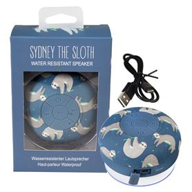 sydney the sloth bluetooth shower speaker