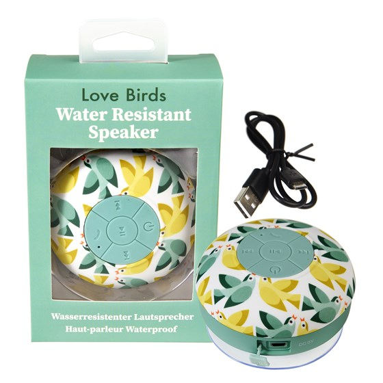 LOVE BIRDS BLUETOOTH SHOWER SPEAKER