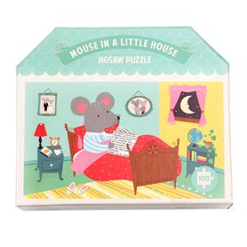 100-teiliges puzzle mouse in a house