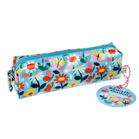 butterfly garden pencil case