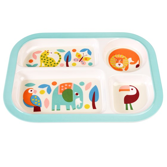 WILD WONDERS MELAMINE FOOD TRAY