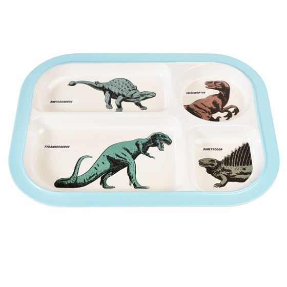 PREHISTORIC LAND MELAMINE FOOD TRAY