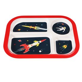 space age melamine food tray