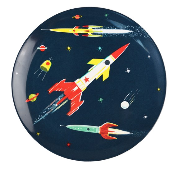 SPACE AGE MELAMINE PLATE