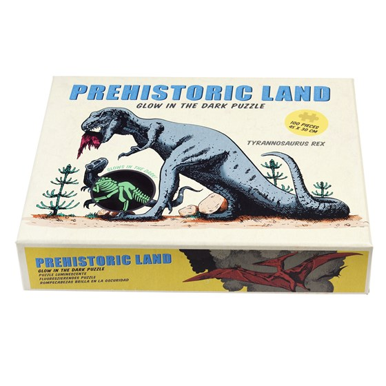 PREHISTORIC LAND GLOW IN THE DARK PUZZLE (100 PC)
