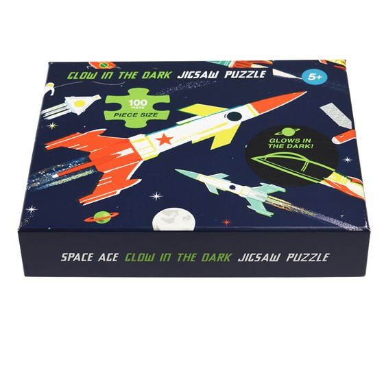 SPACE AGE GLOW IN THE DARK PUZZLE (100 PIECE)