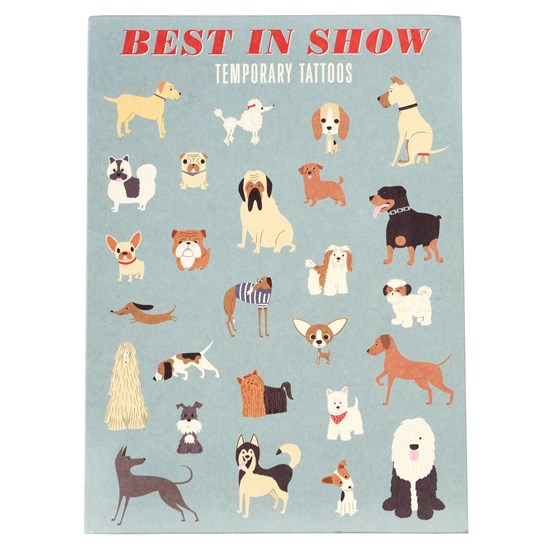 BEST IN SHOW TEMPORARY TATTOOS (2 SHEETS)