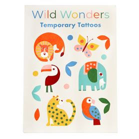 wild wonders temporary tattoos (2 sheets)