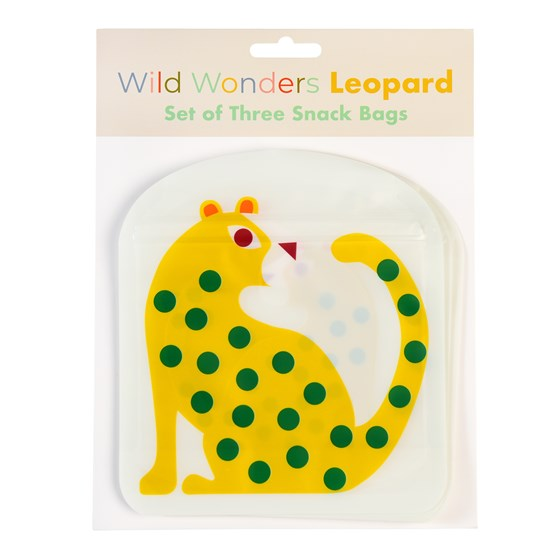 LEOPARD SNACK BAGS (SET OF 3)