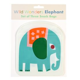 elephant snack bags (set of 3)