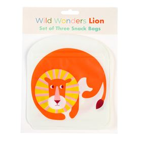 lion snack bags (set of 3)