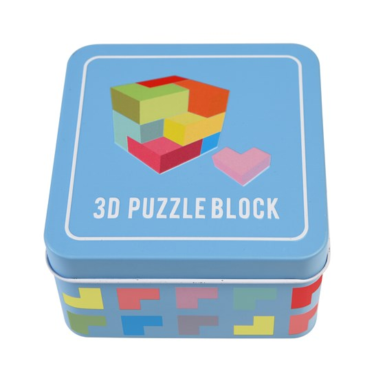 WOODEN 3D PUZZLE IN A TIN